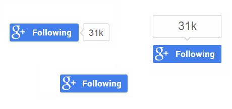 Google+のフォローボタン