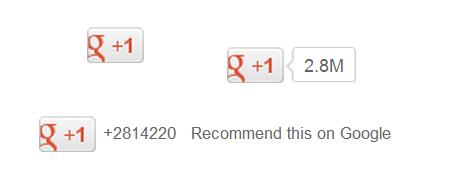 Google+の+1ボタン