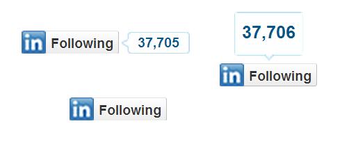 LinkedInのフォローボタン