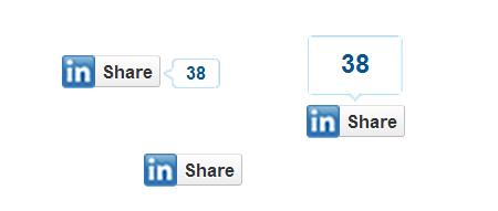 LinkedInのシェアボタン
