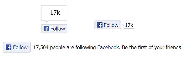 Facebookのフォローボタン