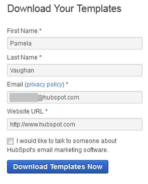 HubSpotのスマートフォームの例