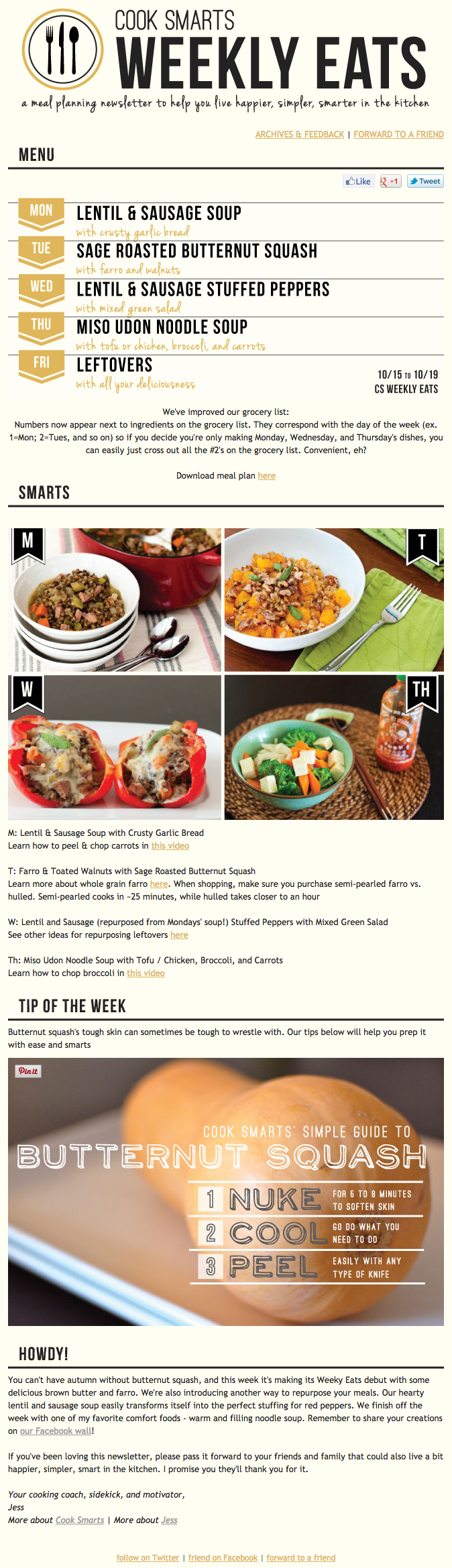 Cook Smartsの綺麗なデザインのメールの実例