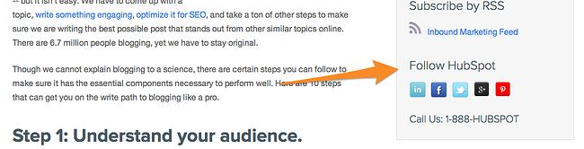 ソーシャルメディア用のCTAの例