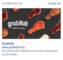 Facebookの広告の確認画面のひとつデスクトップ右側広告枠タイプ