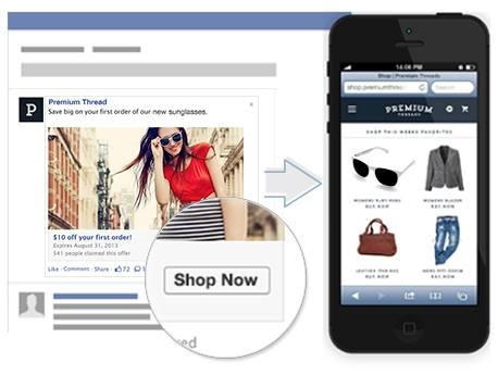 Facebookの広告形式のひとつリンク形式型広告