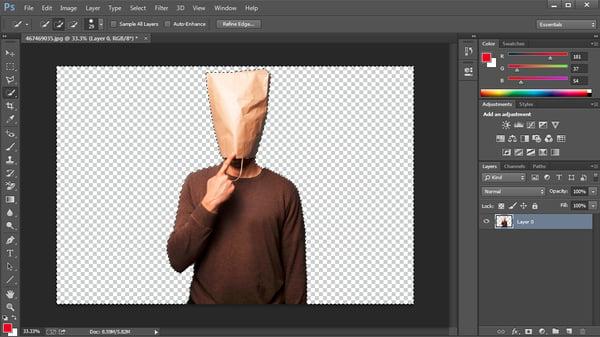 Photoshopで背景を消す方法