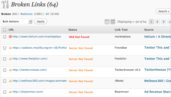 ワードプレスのプラグインBroken Link Checkerのイメージ