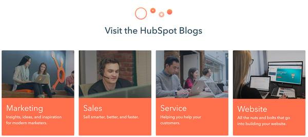 HubSpotのブログカテゴリーの例