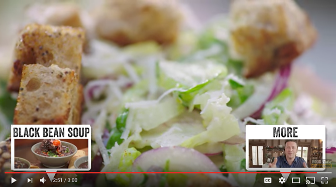 End screens displayed on a YouTube video