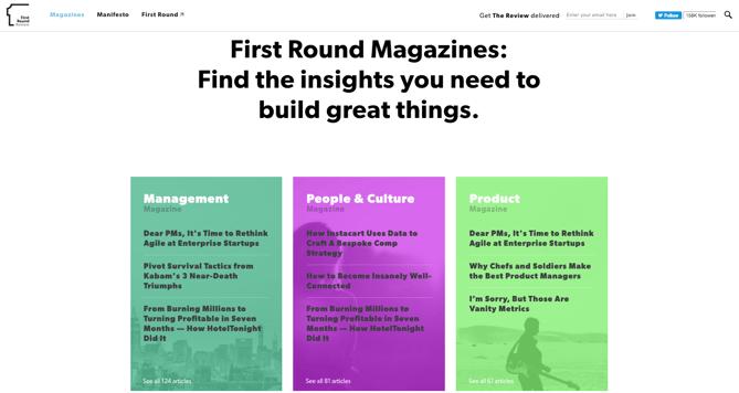 B2Bマーケティング:First Round Magazines
