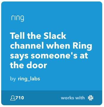 ドアベルが鳴ったらRingからSlackに通知する