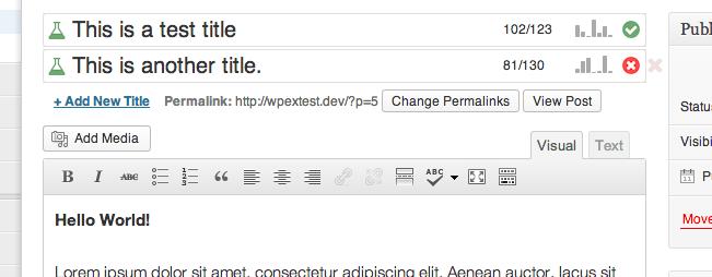 ワードプレスのプラグインTitle Experimentsのイメージ