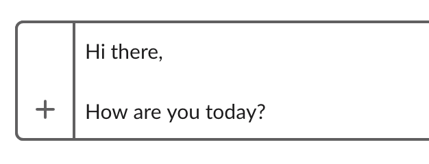 Slackのメッセージでソフトリターン
