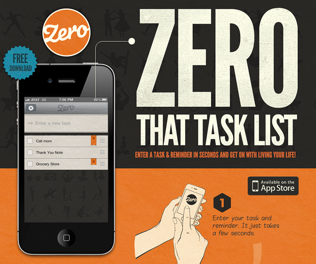 スタートアップ企業Zeroのウェブサイト