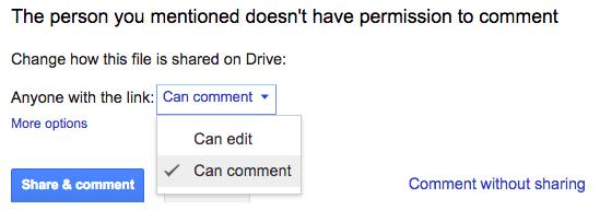 Googleドキュメントのアクセス権限機能