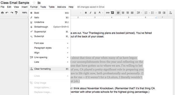 Googleドキュメントで書式クリアをする方法