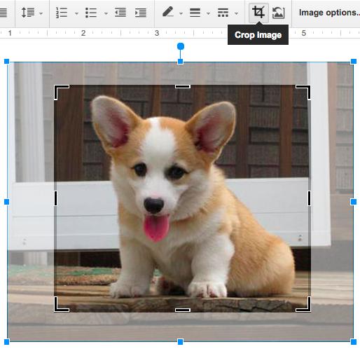 Googleドキュメントの画像編集機能