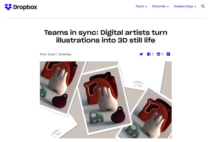 デジタルデザインに関するDropboxブログ