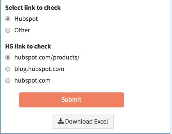 HubSpot - サラウンド サウンド コンテンツ戦略 - SERPトラッカー - チェックするリンクの選択