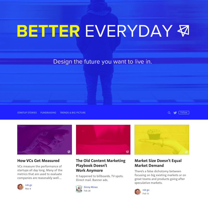B2Bコンテンツ:NextView VenturesがMedium上で提供しているマーケティングブログ