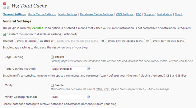 ワードプレスのプラグインW3 Total Cacheのイメージ