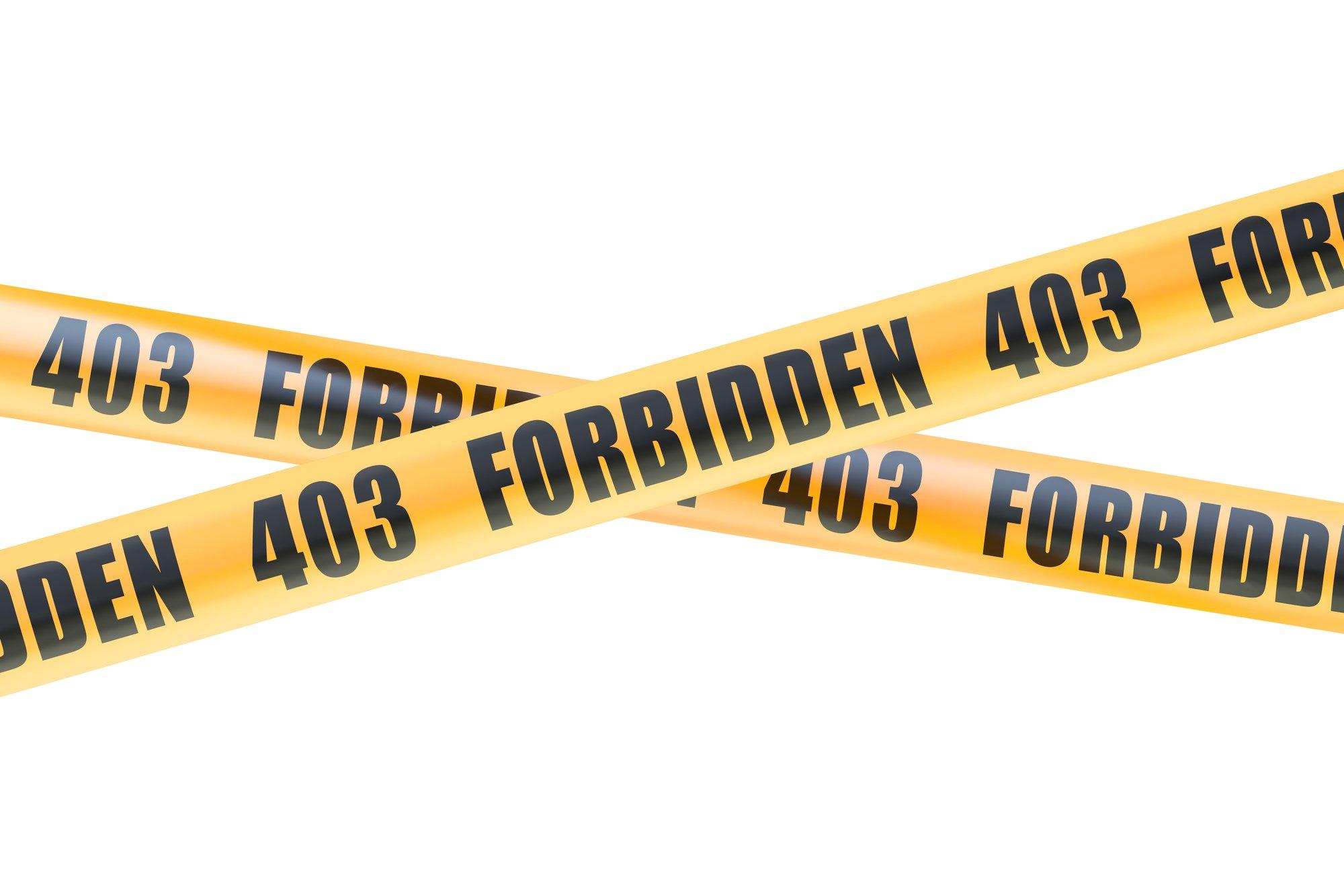 「403 Forbidden」エラーとは?原因と解決方法